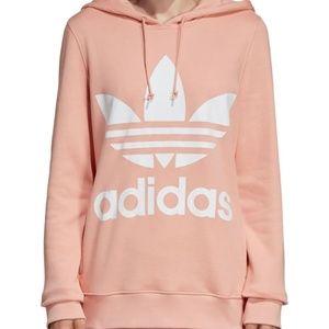 Womens Oversized Blush Adidas Hoodie